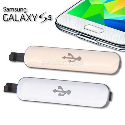 USB Charger Dock Port Waterproof Cover Flap Door Dust Plug For Samsung Galaxy S5