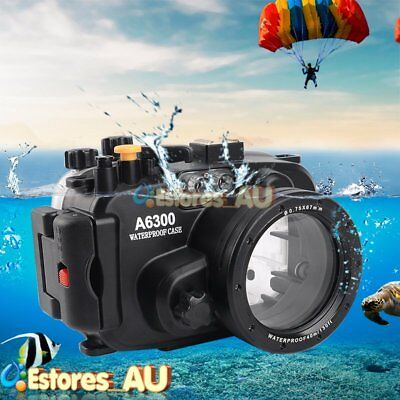 【AU】Meikon 40M/130ft Waterproof Diving Camera Housing Case Fr Sony A6300 16-50mm