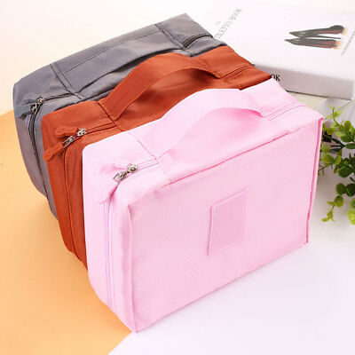 Portable Travel Lady Mesh Storage Bags Zipper Cosmetics Makeup Pouch Case