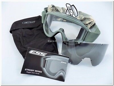 ESS® Land Ops Goggles Foliage Green Military US Army Ballistic Glasses USA New