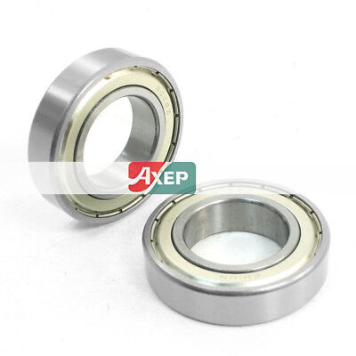 2 Pcs 6006Z 30 mm x 55mm x 13mm One Row Sealed Deep Groove Radial Ball Bearings