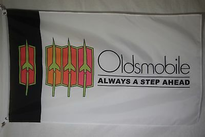 150cm*90cm Oldsmobile ALWAYS A STEP AHEAD FLAG Advertising Promotional Banner