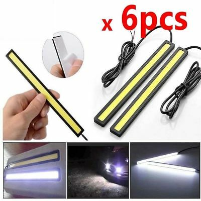 6PC x12V Waterproof White DRL LED Strip Lights Bars Camping Caravan Boat Car COB