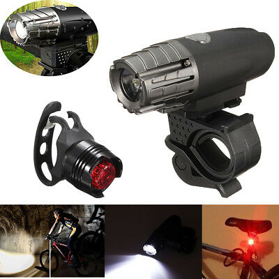 New USB Rechargeable LED Bicycle Bright Bike Front Headlight + Rear Tail Lights