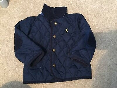 Joules Navy Quilted Jacket 18-24 months