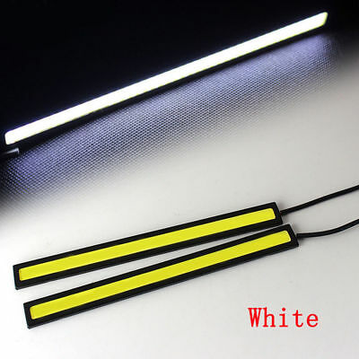 2pcs 12V Waterproof White DRL LED Strip Lights Bars Camping Caravan Boat Car COB