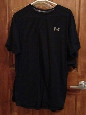 Under Armour Men's Fitted Heat Gear Running Shirt Size XL