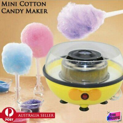 Electric Cotton Candy Maker Portable Floss Machine Fairy Kid Party Home Dessert