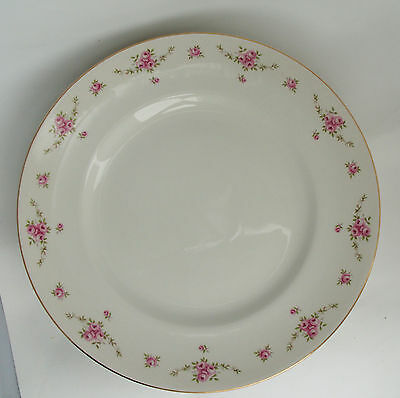 "6 Royal Osborne Princess White Mist  Dinner Plates, Dainty Pink Roses 10""'"