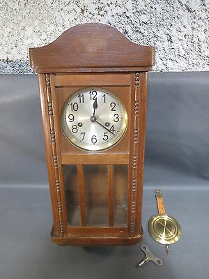 Antique small wall clock chime 1 hammer vintage french antique clock