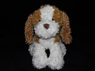 Chad Valley Puppy Dog Soft Toy White Tan Brown Comforter Doudou