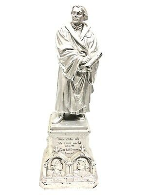 LA2/123 * Gorgeous Martin Luther White Metal Statue Antique German 1890's