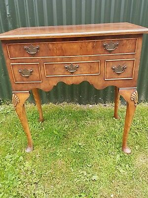 antique walnut hall/ console  table with 4 drawers