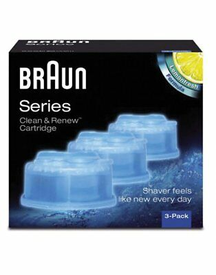 Braun Clean And Renew Shaver Lubricant Refreshing Refill Cartridges 3 Pack