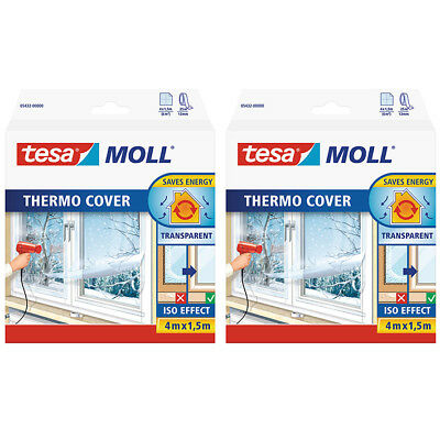 2 x tesamoll Fensterisolierfolie thermo cover, transparent