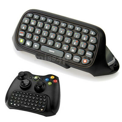 New Black Wireless Text Messenger Keyboard For XBOX 360