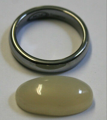Natural Loose Moonstone 10X19Mm Oval 6Mm Tall Cabochon 9.3Ct Mu29