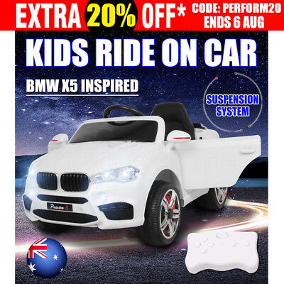 Electric Kids Ride On Car BMW X5 Inspired Children Toy Twin Motor Battery Remote