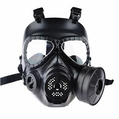 Airsoft Paintball Dummy Gas Mask with Fan for Cosplay Protection Halloween Evil
