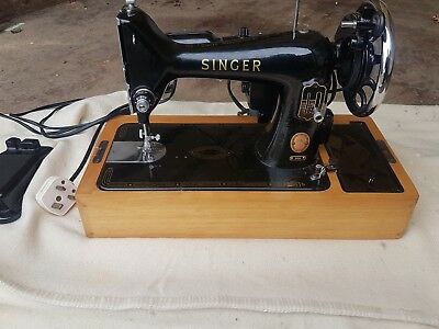 Vintage Singer 99K Sewing Machine With Foot Pedal Working