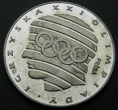 POLAND 200 Zlotych 1976 Proof PROBA - Silver - Olypmics -1905