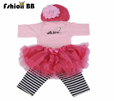 "Reborn Doll Clothes Dress Fit for 22-23"" Love Newborn Baby Suit Kids  Xmas Gift"