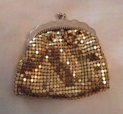 Vintage GLOMESH Dainty Gold Coin Purse
