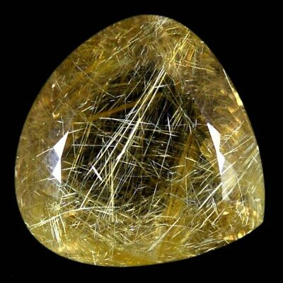 206.50Cts NATURAL BEAUTY! GOLDEN RUTILE QUARTZ HEART CABOCHON GEMSTONE 110-01