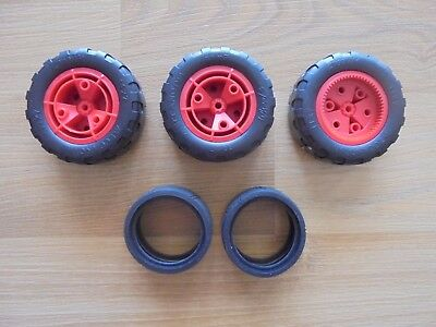 6 wheels_MECCANO speedplay robot 9901 replacement parts _used_xx79_X2a6