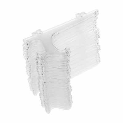 "PF 5"" Clear Plastic Easels or Plate Holders - Pkg of 12 Easels to Display Plates"