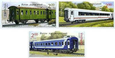 UKRAINE 2012 ** MNH Locomotives, Trains