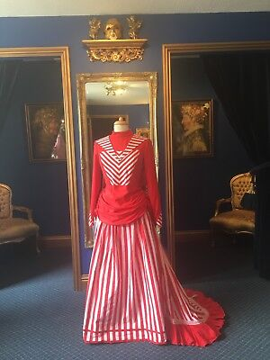 Gorgeous Victorian Style Theatrical Apron Fronted Bustle Dress, Beautiful