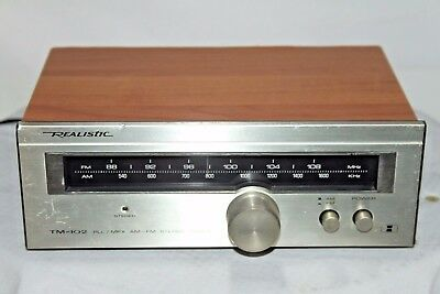 Realistic Small AM FM Tuner Model TM-102  silber