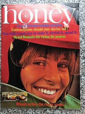Vintage Honey Magazine September 1970 Hywel Bennett Interview