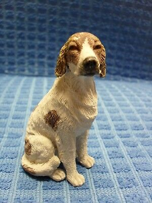 Collectible Tan & White Fox Hound Dog Figurine~3 In.