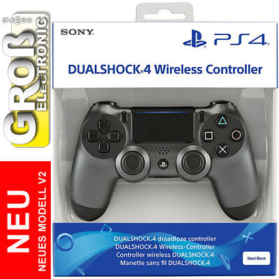 Original Sony CONTROLLER PS4 WIRELESS DUALSHOCK PlayStation V2 PS 4 Steel Black