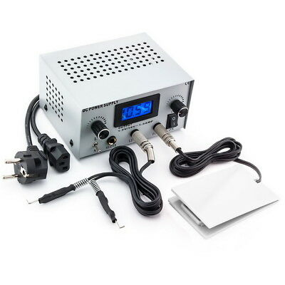 3in1 Tattoo Set Digital Netzteil Power Supply Fußpedal mit Clipcord Kabel N12-11