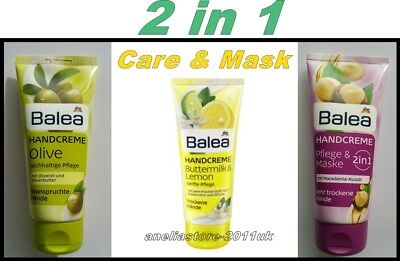 BALEA Hand Cream 2 in1 Care & Mask Choice -100 ml.