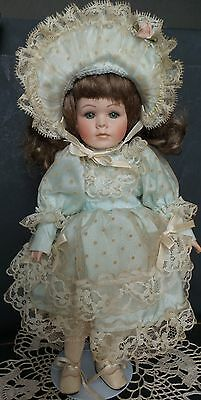 "DARLING Dress & Matching HAT 4 your 12"" antique FRENCH or GERMAN Doll + DOLL"