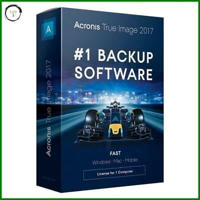 Acronis True Image 2017/18 for 1 Device (PC, MAC, Mobile) #1 Backup Software