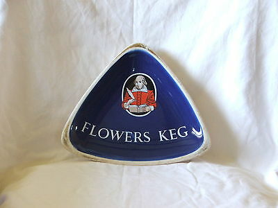 Vintage Flowers Keg Beer ~ Porcelain Advertising Ashtray ~ William Shakespeare