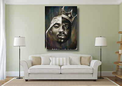 Biggie Smalls BIG 2Pac Tupac Collage Large Poster Wall Art Print - A0 A1 A2 A3ww