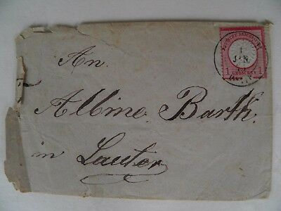 Alter Brief Briefkuvert 1875 Briefmarke 1 Groschen Deutsche Reichs Post