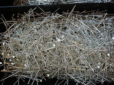 40 HEAD PINS 48mm SILVER TONE FOR JEWELLERY MAKING BRAND NEW