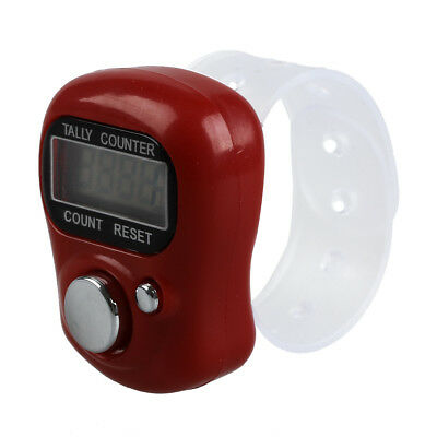 PF Mini LCD Electronic Digital Display Finger Counter Red