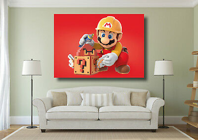 Super Mario Kids Bedroom Large Poster Wall Art Print - A0 A1 A2 A3 A4 Maxi