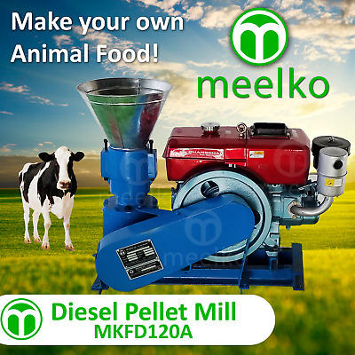 PELLET MILL 7,5 HP GASOLINE ENGINE PELLET PRESS 120 mm 60 to 100kg hr