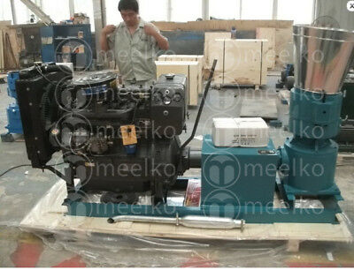 Pellet Mill 41Hp Diesel Engine Pellet Press  Free Shipping