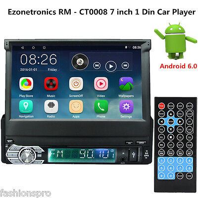 Ezonetronics RM-CT0008 7'' Android 6.0 DVR para coche Reproductor 1 Din con GPS