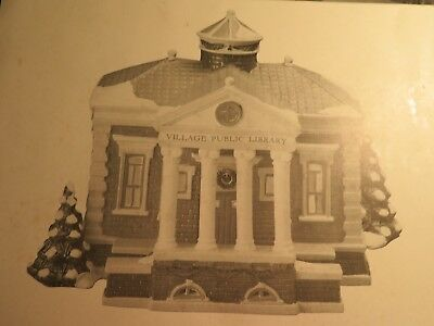 Dept 56  -  Snow Village  -  Village Public Library   # 5443-7